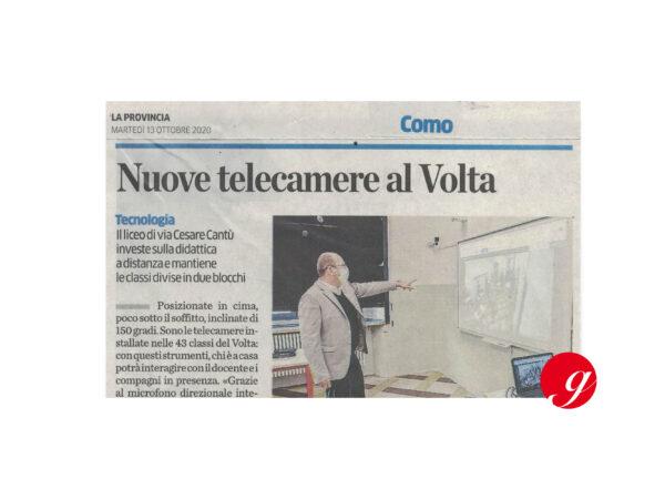 Telecamere per DaD al Liceo Volta di Como